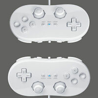 2 Classic USE Wired Gamepad Joystick Controller Pro For Wii Remote White US Ship