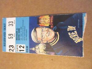 Notre Dame vs Michigan 1986 Football Ticket Stub