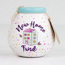 Pot Of Dreams New Home Fund Bright White Spots Money Pot Saving Piggy Bank Gift