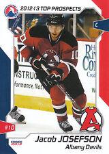 12/13 AHL TOP PROSPECTS #6 JACOB JOSEFSON ALBANY DEVILS *16044