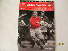 Wales v Argentina. Rugby Union. 2001.