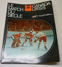 Official 1972 URSS VS Canada Hockey Series French Book