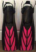Used Once! Atomic Aquatics Split Fins Open Heel Scuba Snorkeling Pink Black Med