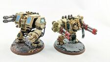 2x Dark Angels Dreadnoughts 1 Forge World Venerable Painted Warhammer 40k pro