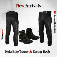 Motorbike Textile Pant Trouser Waterproof Motorcycle Biker Leather Touring Shoes