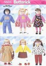 Back to School Doll Clothes Dress Top Sewing Pattern UNCUT for American Girl