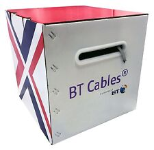 BT Cat6 Solid PVC Cable Grey 305m Box 100% Copper Data Networking Ethernet