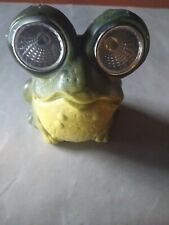 Frog indoor/outdoor decoration with solar  eyes