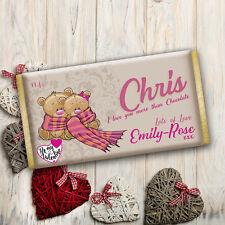 Personalised Valentine's Day Boyfriend Chocolate Bar Wrapper