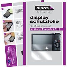 6x dipos Canon Powershot S110 Schutzfolie Displayschutzfolie unsichtbar klar