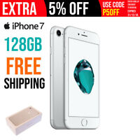 Apple iPhone 7 - 128GB - Silver (Unlocked) A1778 (GSM) FREE  SHIPPING