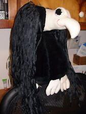 "Kick's Papa Mirdok hanging stuffed vulture with black ribbons - Kamar - body 14"""