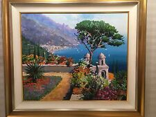 Kerry Hallam Large Original Oil Painting On Canvas Amalfi Coast Framed