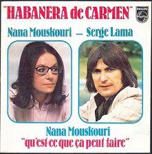 NANA MOUSKOURI SERGE LAMA HABANERA DE CARMEN 45T SP 1977 PHILIPS 6172.093