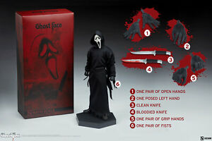 Sideshow Collectibles Ghost Face Scream Horror Movie 1:6 Scale Figure New