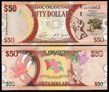2016 GUYANA 50 DOLLARS UNC (P-NEW) COMMEMORATIVE GUYANA BANKNOTE