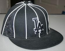 NEW ERA 59 FIFTY LOS ANGELES DODGERS STRIPE HAT BLACK SIZE 7 1/4