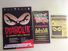 lotto 3 pubbl. festival fumetto 06 (MI) e città di castello ottobre 05 e tiferno