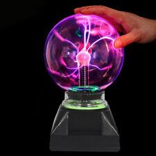 "4"" Magic Plasma Ball Lightning Crystal Globe Touch Motion Nebula Light Boys Gift"