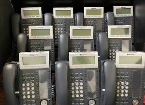 LOT OF 10 Panasonic KX-NT346-B IP phones with 24 buttons & 6-line backlit LCD