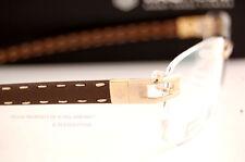 Brand New TAG Heuer Eyeglass Frames L-TYPE 0151 003 Gold/Brown Calfskin SZ 57