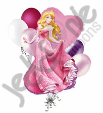 7 pc Sleeping Beauty Aurora Disney Princess Balloon Bouquet Happy Birthday Party