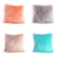 Faux Fur Plush Fluffy Shaggy Soft Pillow Throw Covers Sofa Cushion Pillowcase