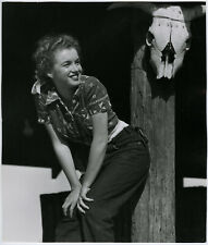 Young Marilyn Monroe Original 1945 Large Andre de Dienes Pin-Up Photograph