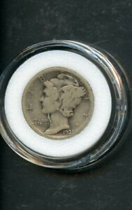 UNITED STATES MERCURY DIME  1921-D  CIRCULATED YOU DO THE GRADING