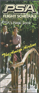 PSA Pacific Southwest Airlines system timetable 6/18/80 [6063] Buy 4+ save 25%