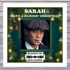 CHRISTMAS CARDS PEAKY BLINDERS personalised with any MALE or FEMALE NAME