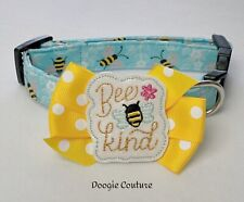 Bee Kind Dog Collar Size XS-L by Doogie Couture