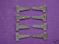 AM 45 Model Boat Fittings. White Metal Hinge x 8  AM 45