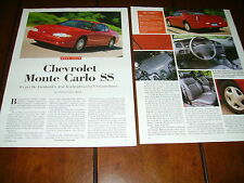 2000 CHEVROLET MONTE CARLO SS  ***ORIGINAL ARTICLE***