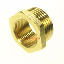 """LOT 5 Brass Reducer 1/4"""" BSP Male to 1/8"""" BSP Female Reducing Bush Pipe Fitting"""