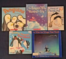 Lot of 5 Children's Picture Books: Penguins Theme