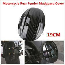 19CM Motorcycle Rear Carbon Fiber Fender Mudguard Cover Fit For Kawasaki Yamaha