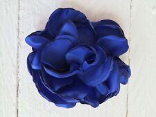 Blue Silk Flower Hair Clip Flower Girl Bridesmaid Wedding Prom Races Fascinator
