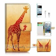 ( For iPod 6 / itouch 6 ) Flip Case Cover P2716 Giraffe