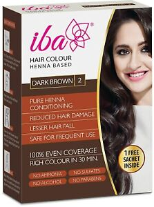 Iba Halal Care Hair Color, Dark Brown, 70g + Free Sachet (free shipping world)