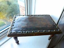 VINTAGE WOODEN SMALL TABLE - OLD WOODEN STOOL