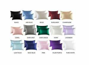 All Sizes, All colors Satin Pillowcase (2 Pack) for Hair Skin Silk Pillow Case