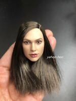 "1/6 Female Head Sculpt GC034B for 12"" Action Figure Doll PHICEN SUNTAN"