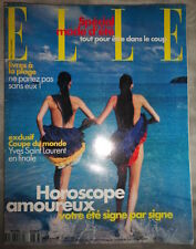 Vtg French ELLE 6/1998 Ines Riveiro Molly Sims Yves Saint Laurent Adam Cohen