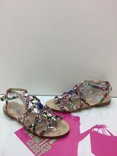 Steve Madden 'Bizzare' Multi Color Floral Studded Gladiator Sandals Size 9M