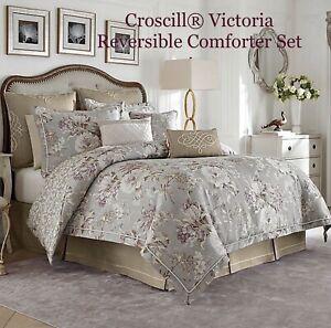 Croscill® Victoria Reversible Comforter Set, 4 Piece Set Pillow Shams & Bedskirt