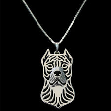 Pit Bull Terrier Dog Canine Collection Silver Tone Metal Pendant Necklace