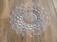 """Fostoria American Clear Glass- Small Center- 7 3/4"""" Salad Plate(s)-Up to 8 Avail"""