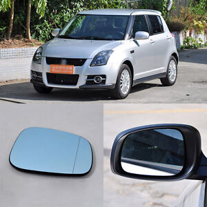 Rearview Mirror Blue Glasses LED Turn Signal with Power Heating For Suzuki Swift