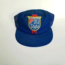 VTG 1980s Heilemans Old Style Beer  mesh trucker snapback cap Made in USA Patch